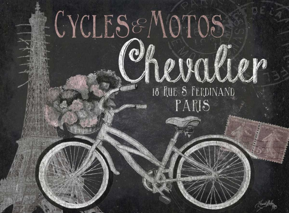 Paris Bike on Chalk Border I Medley, Elizabeth 47383