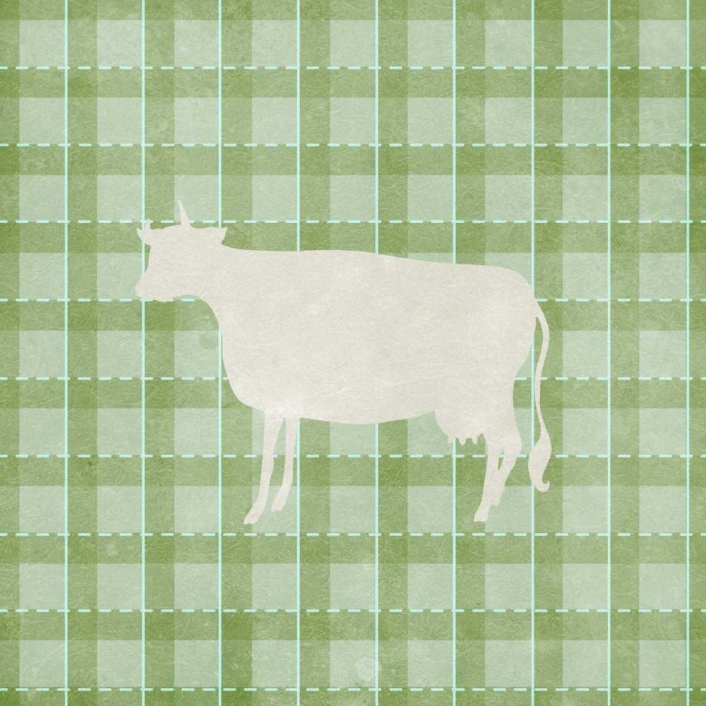 Farm Cow on Plaid Medley, Elizabeth 122668