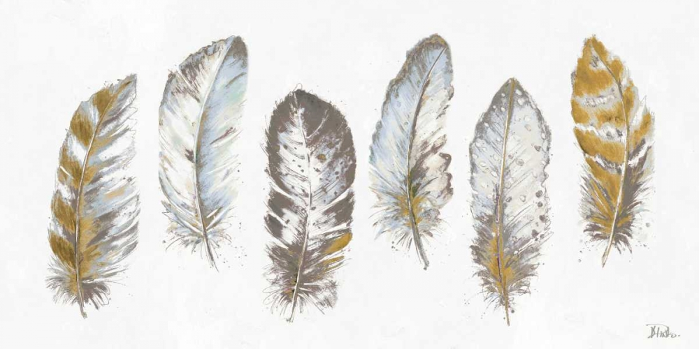 Modern Gold Feathers Panel Pinto, Patricia 159450