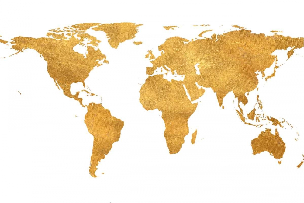 Gold World Map Studio, Sd Graphics 159342