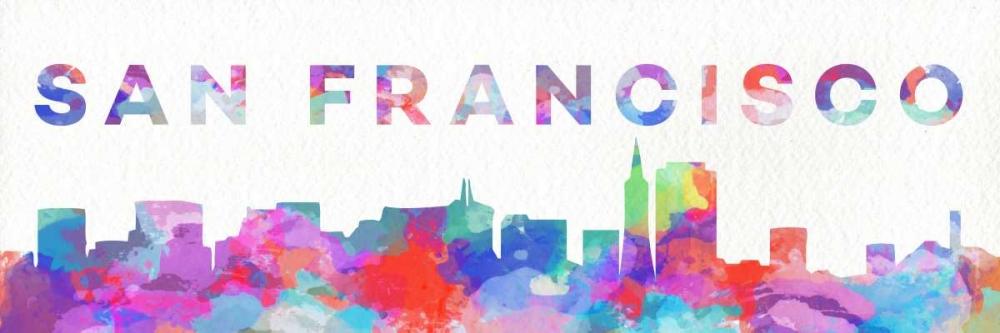 San Francisco Watercolor Skyline SD Graphics Studio 123260