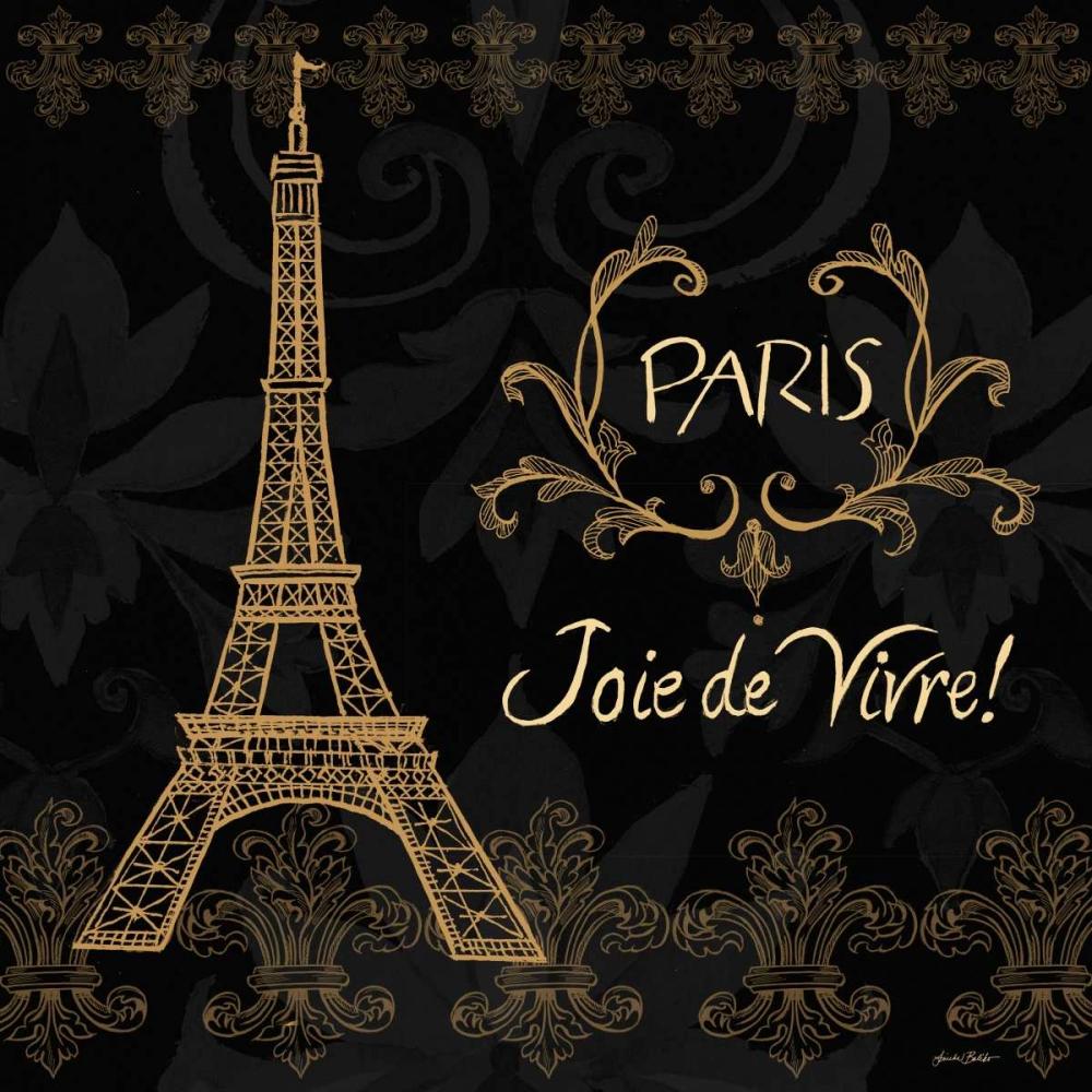 Elegant Paris Gold Square Border II Baliko, Linda 47988