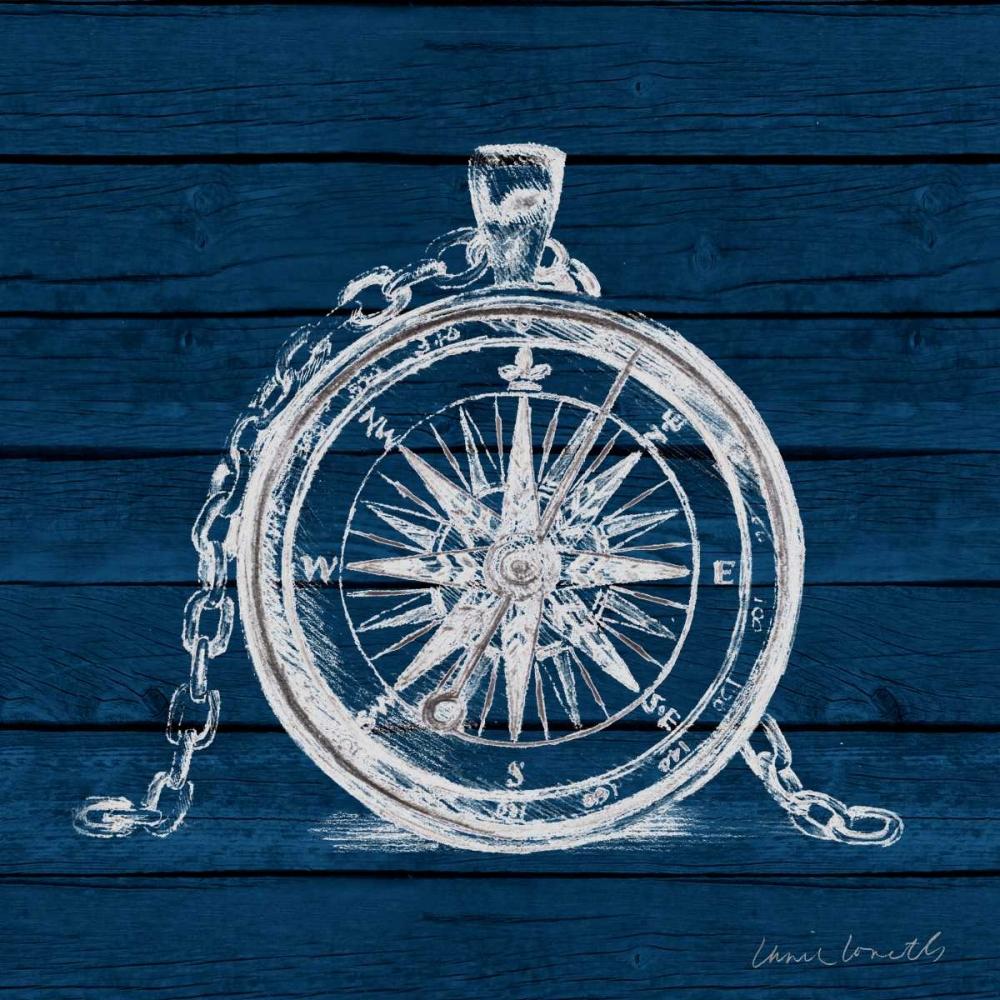 Compass on Blue Wood Loreth, Lanie 159303
