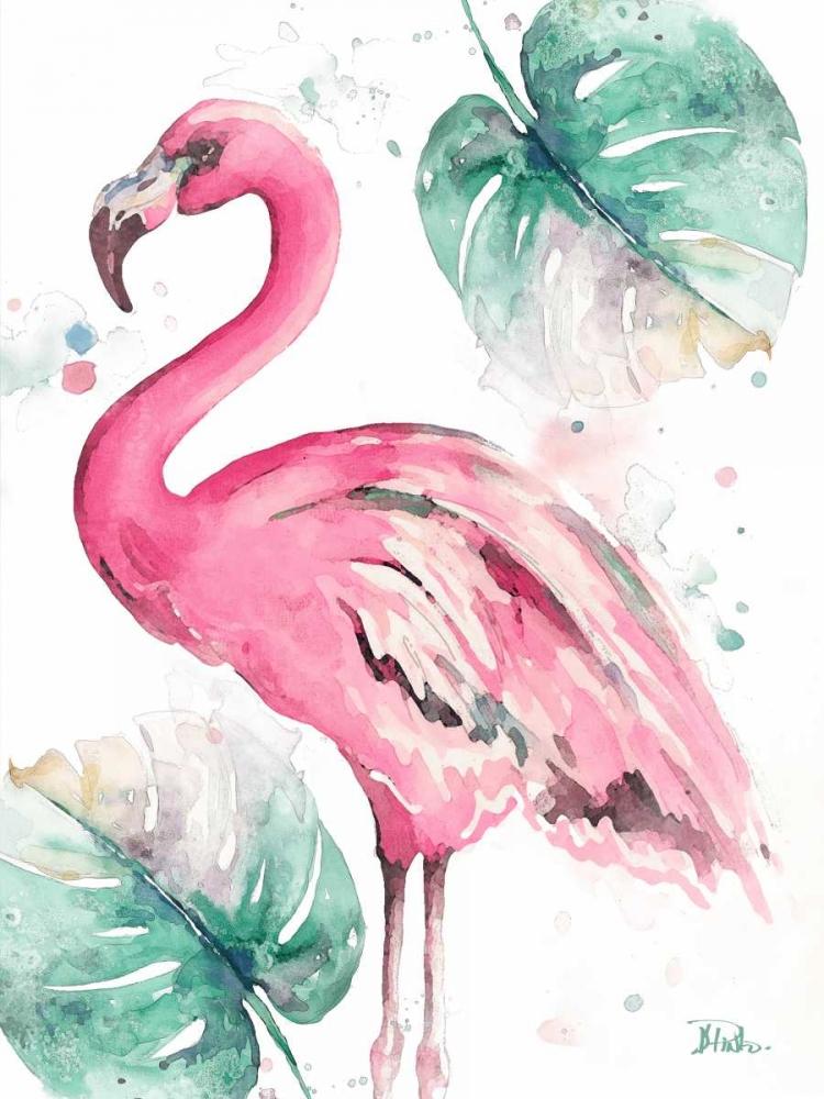 Watercolor Leaf Flamingo I Pinto, Patricia 159855