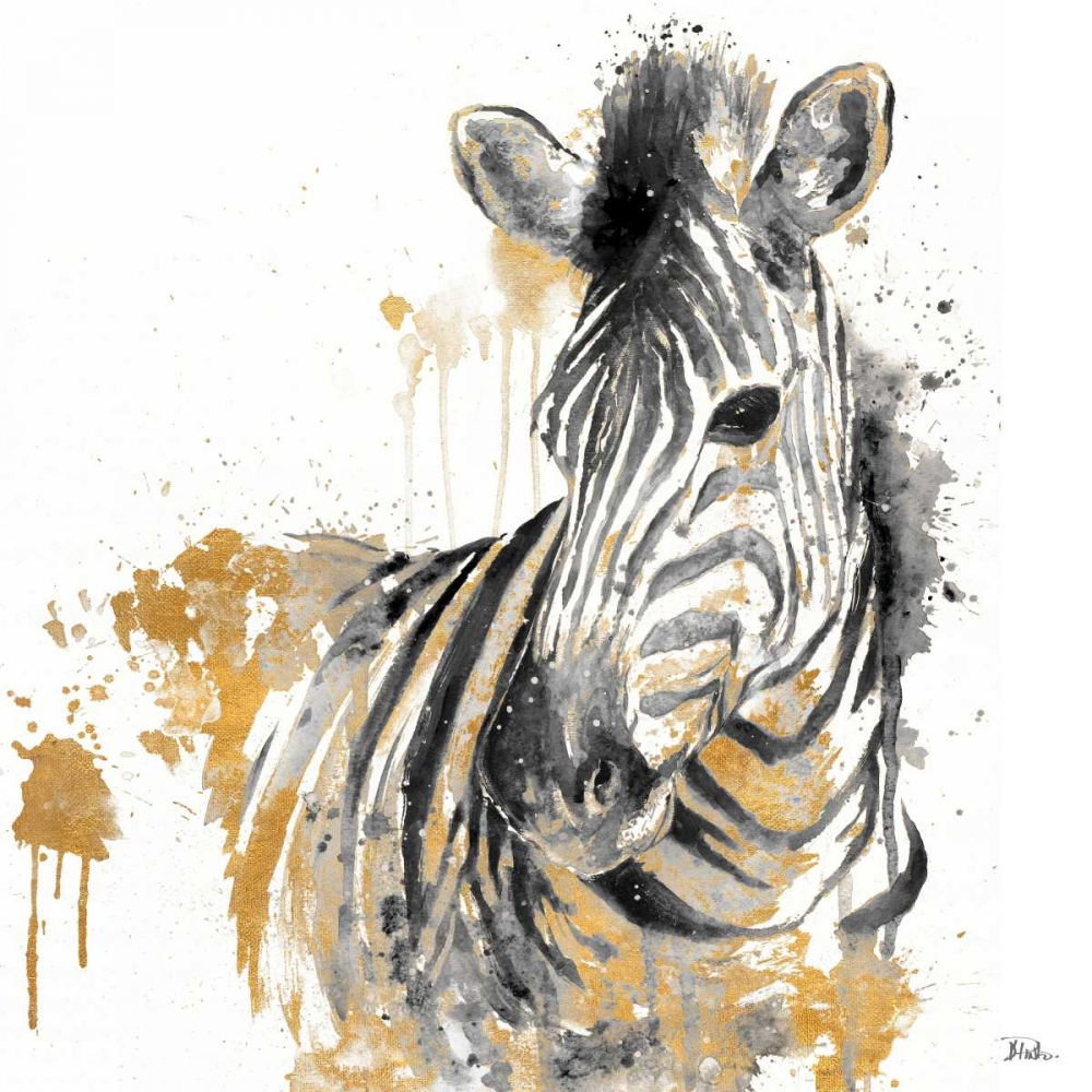 Water Zebra With Gold Pinto, Patricia 123910