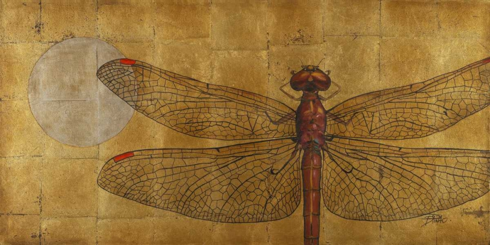 Dragonfly on Gold Pinto, Patricia 15195