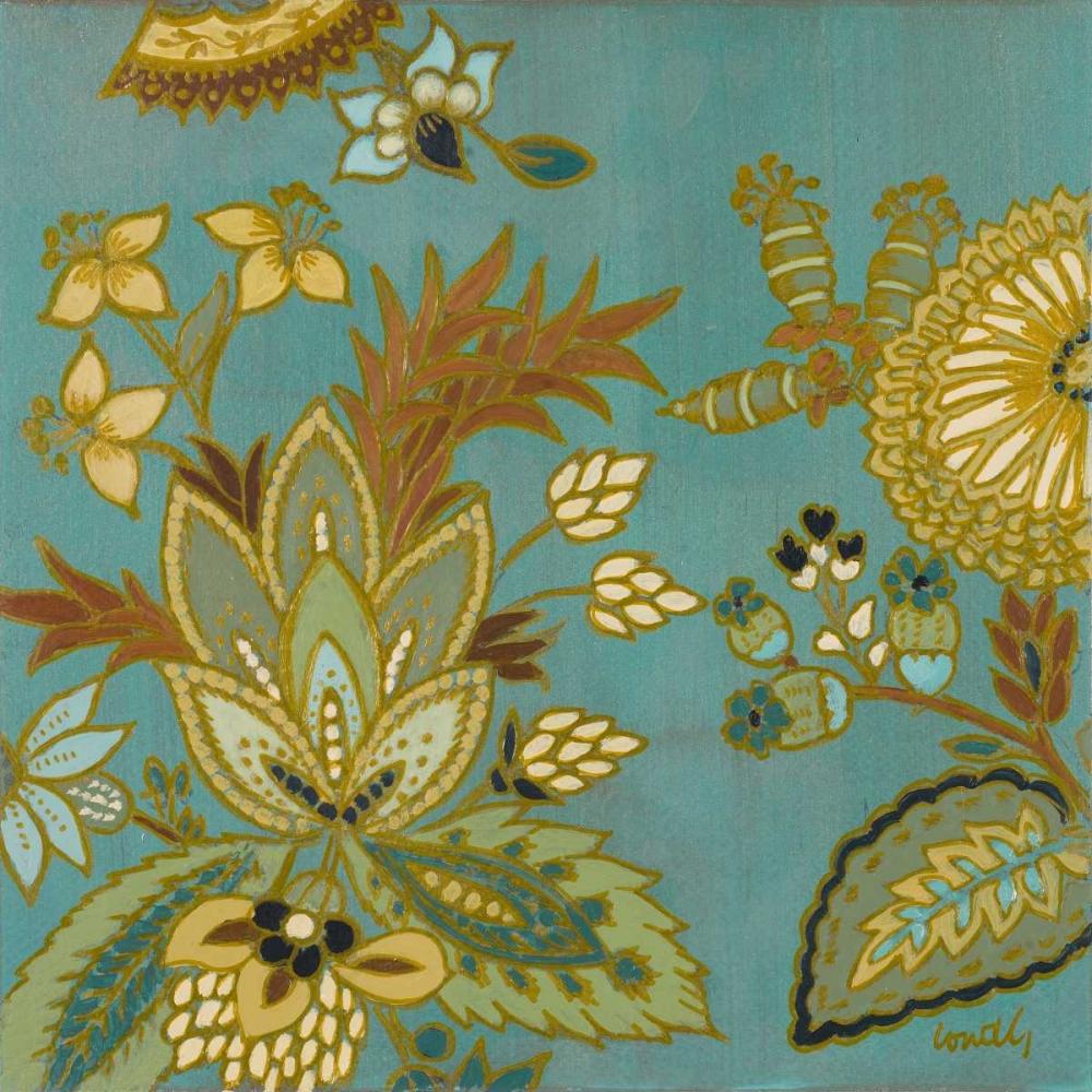 European Floral on Teal I Loreth, Lanie 15456