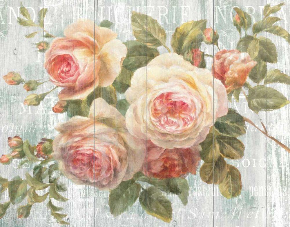 Vintage Roses on Driftwood Nai, Danhui 17362