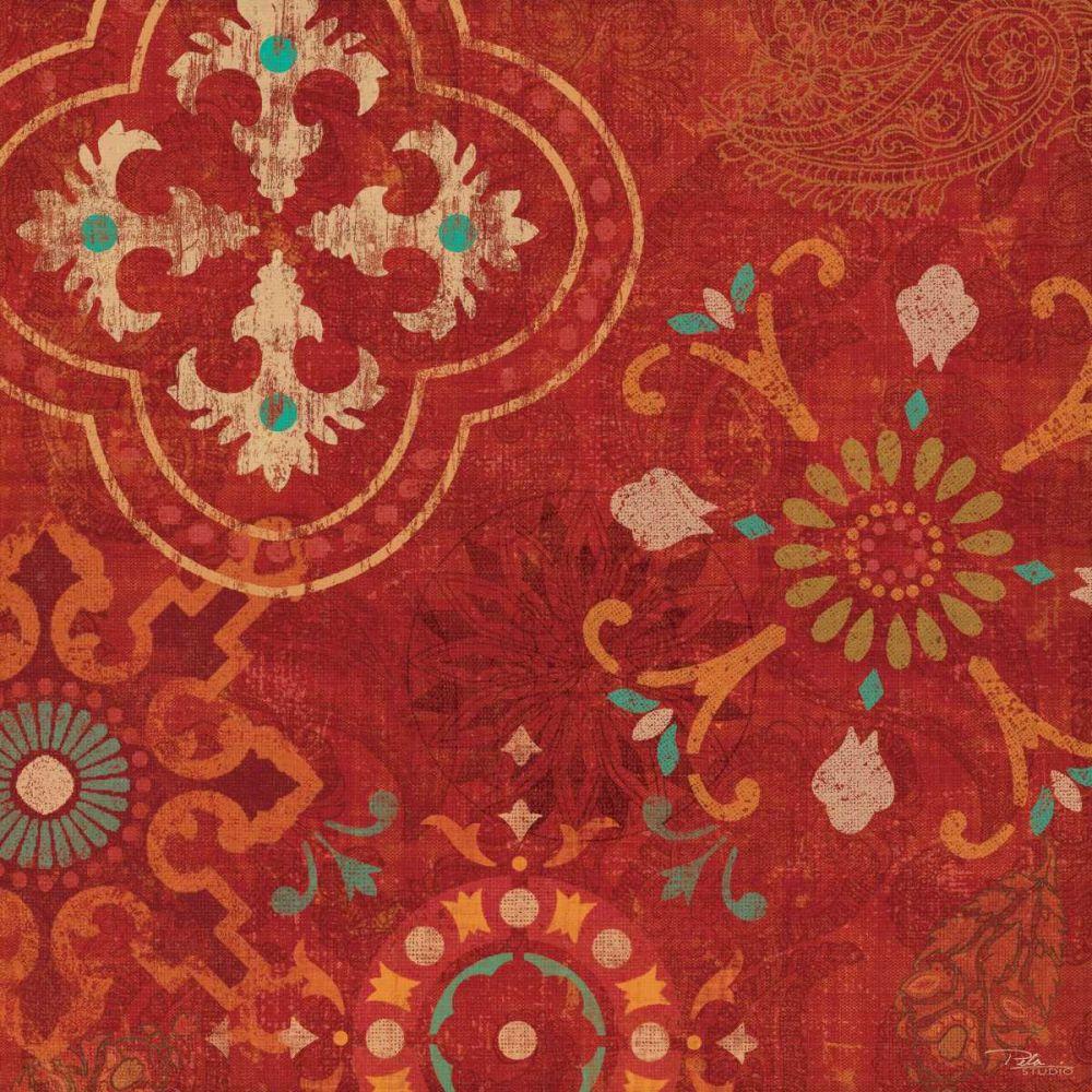 Crimson Stamps III Pela Studio 17950