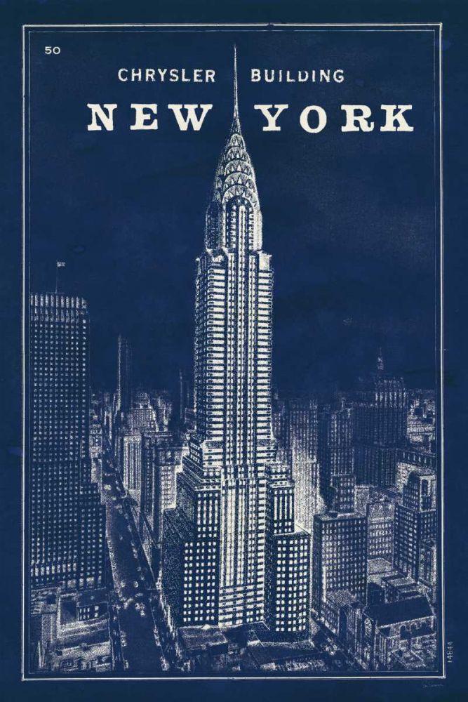 Blueprint Map New York Chrysler Building Schlabach, Sue 20988