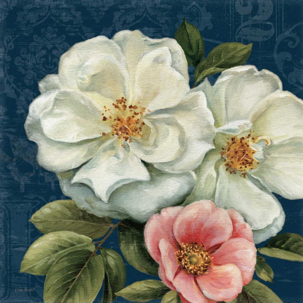 Floral Damask III on Indigo Audit, Lisa 18220