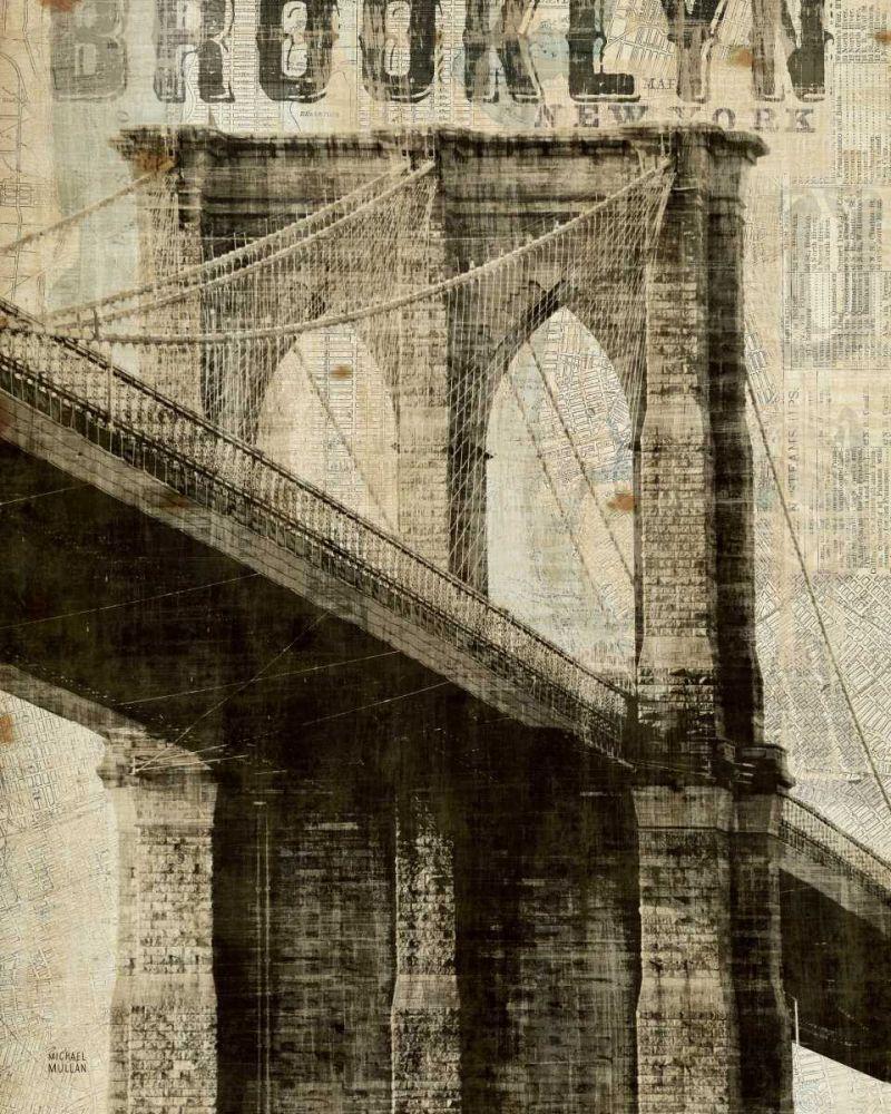 Vintage NY Brooklyn Bridge Mullan, Michael 17983