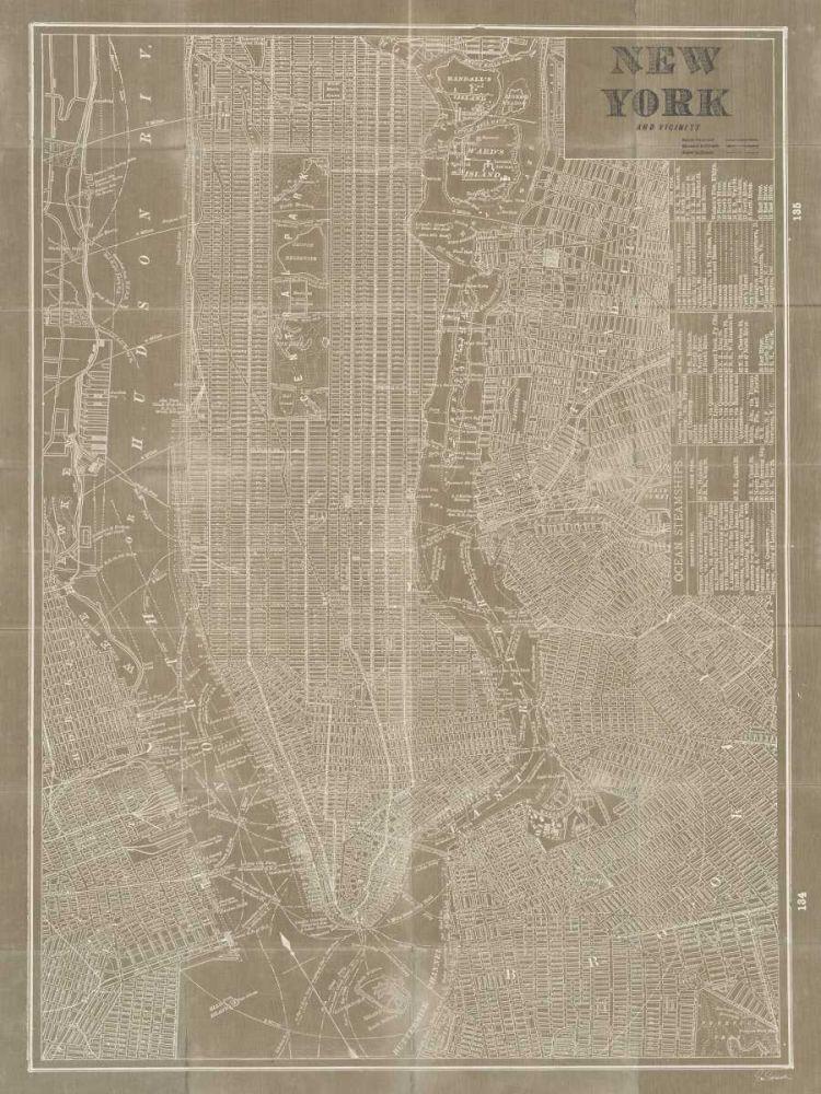 Blueprint Map New York Taupe Schlabach, Sue 20989