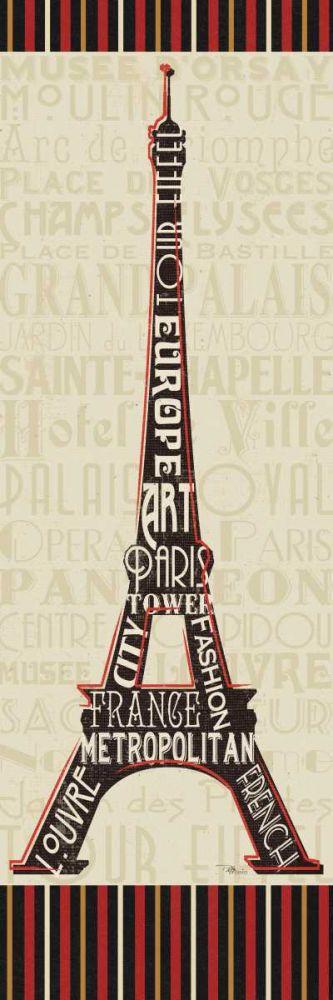 Paris City Words I Border Pela Studio 28434