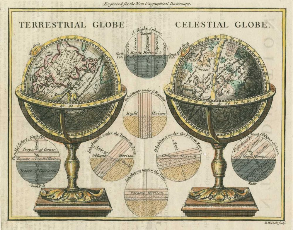 Antique Globes Wild Apple Portfolio 21941