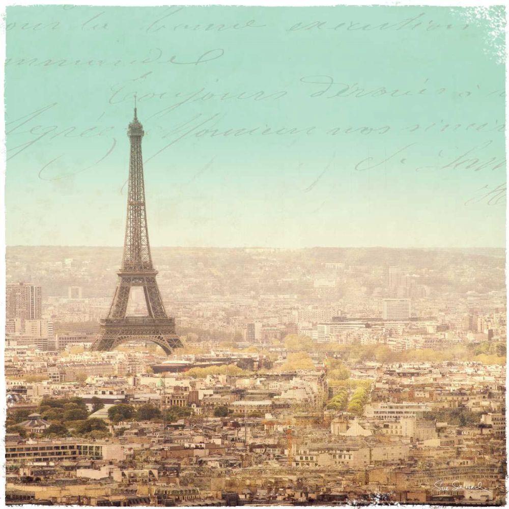 Eiffel Landscape Letter Blue II Schlabach, Sue 21956