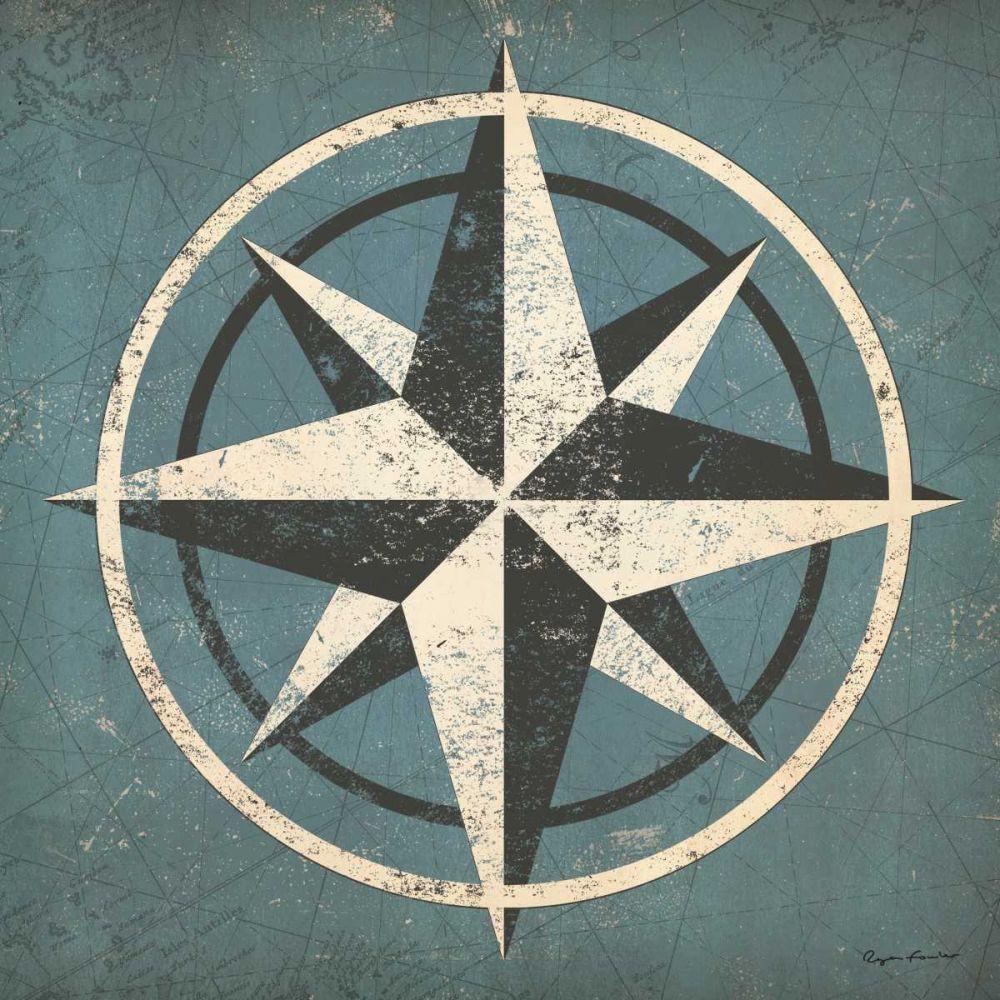 Nautical Compass Blue Fowler, Ryan 57531
