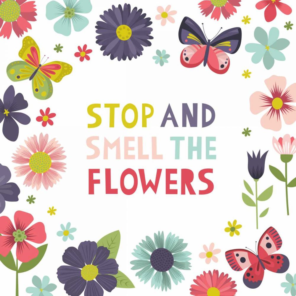 Stop and Smell the Flowers on White McCartan, Lamai 73767