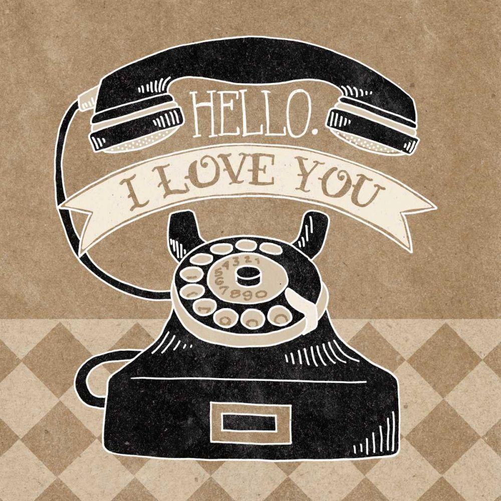 Hello I Love You Taupe Urban, Mary 73786