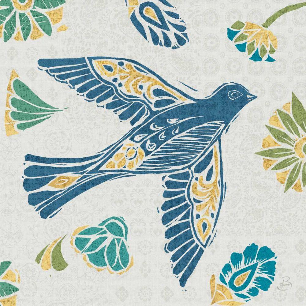 Nordic Woodcut Bird IVF Daphne, Brissonnet 93284