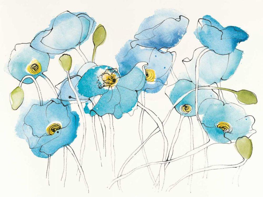 Black Line Poppies III Watercolor Novak, Shirley 93405