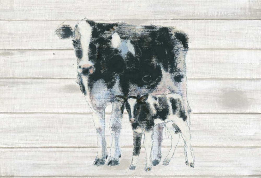 Cow and Calf on Wood Adams, Emily 93429