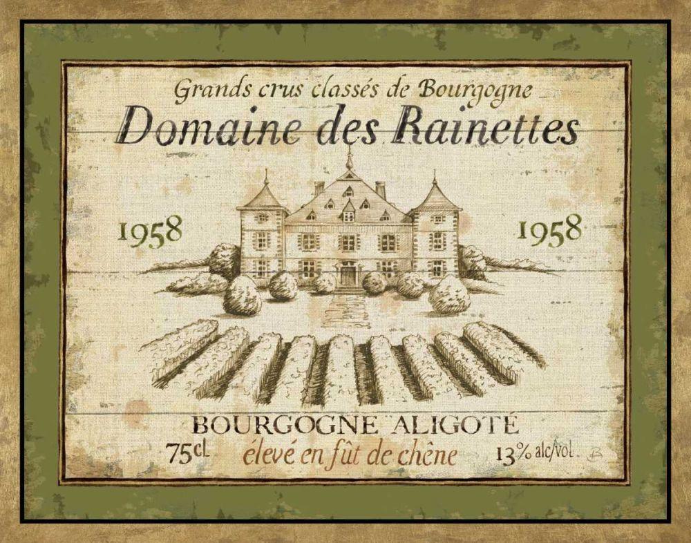 French Wine Label III Brissonnet, Daphne 17522