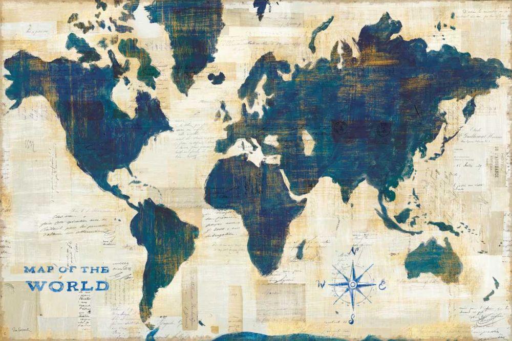 World Map Collage Schlabach, Sue 121748