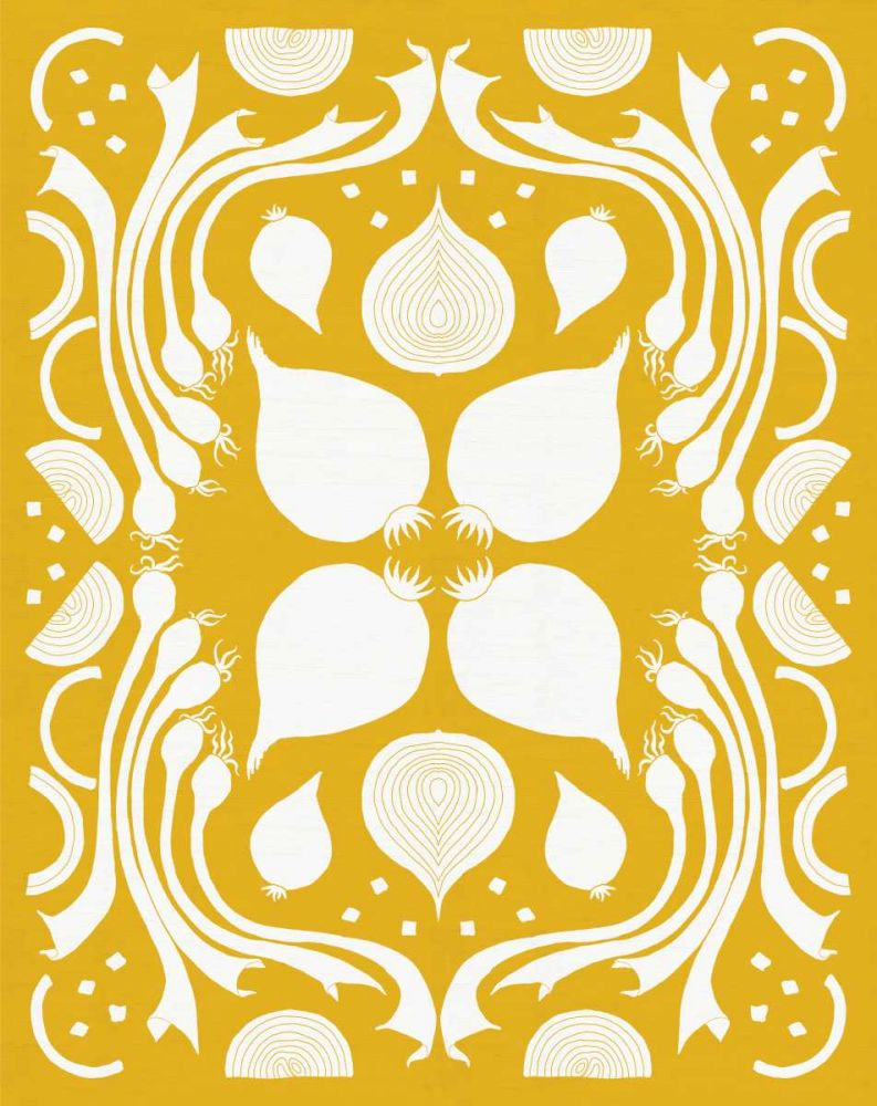 Retro Onion Otomi Silhouette DeNeige, Elyse 121778