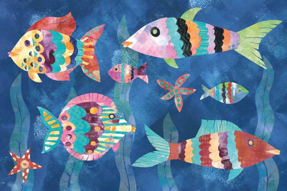 Boho Reef Fish III Wild Apple Portfolio 137656