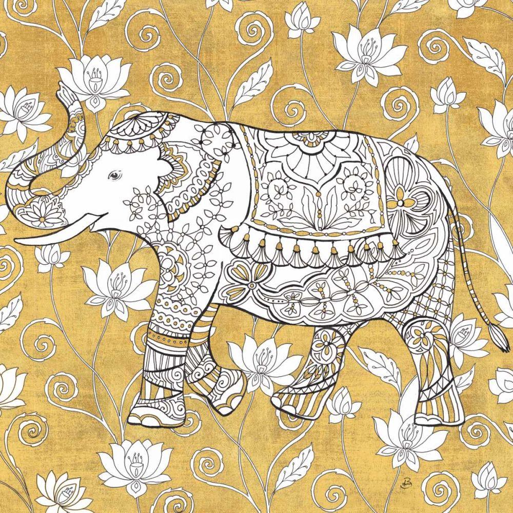 Color my World Elephant II Gold Brissonnet, Daphne 153080