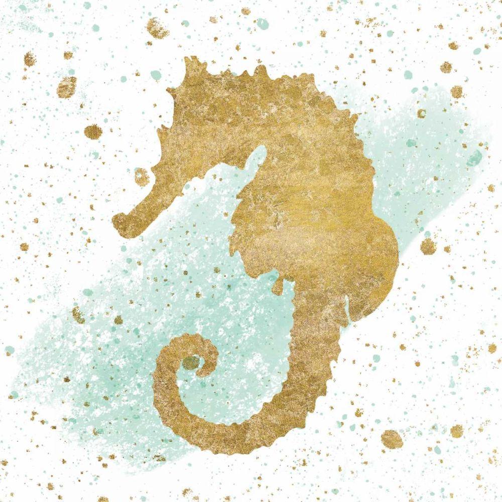 Silver Sea Life Aqua Seahorse Wild Apple Portfolio 157816