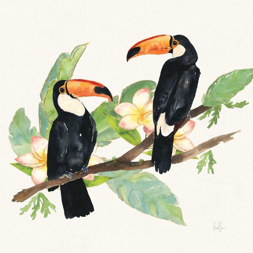 Tropical Fun Bird I Leaves Sussman, Harriet 158767