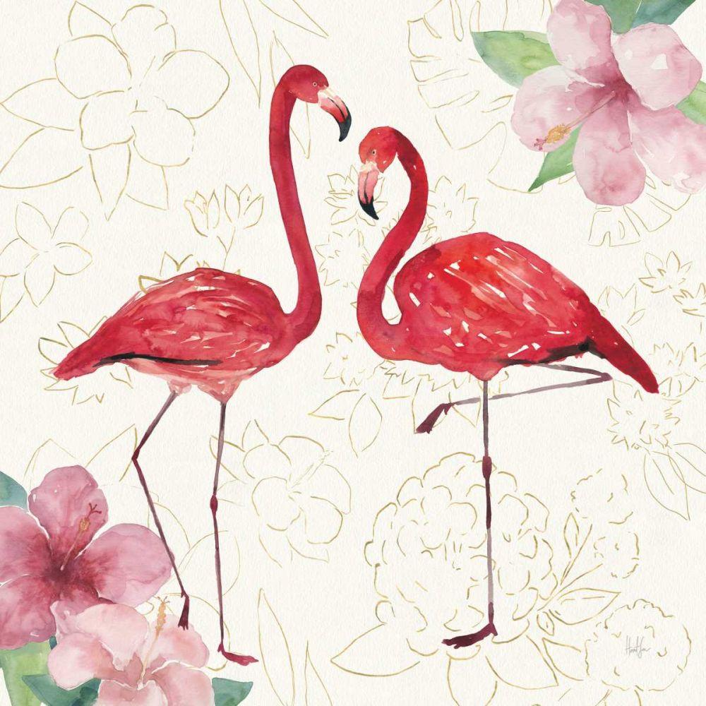 Tropical Fun Bird IV with Gold Sussman, Harriet 158763