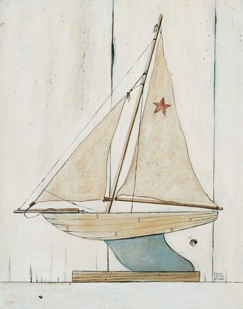 Pond Yacht II Brown, David Carter 34361