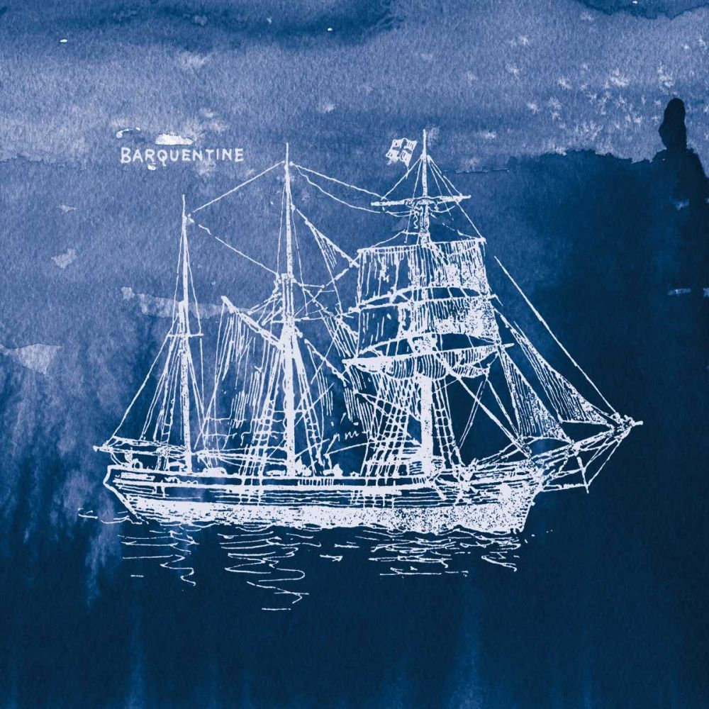 Sailing Ships III Indigo Wild Apple Portfolio 163484