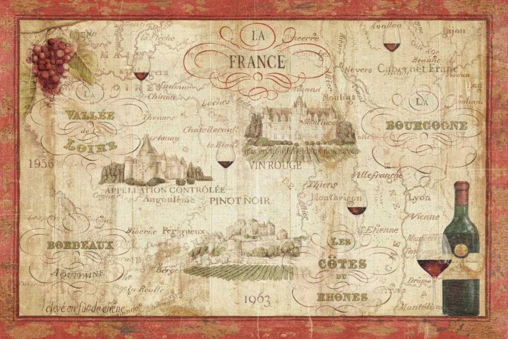 Wine Map Brissonnet, Daphne 17609