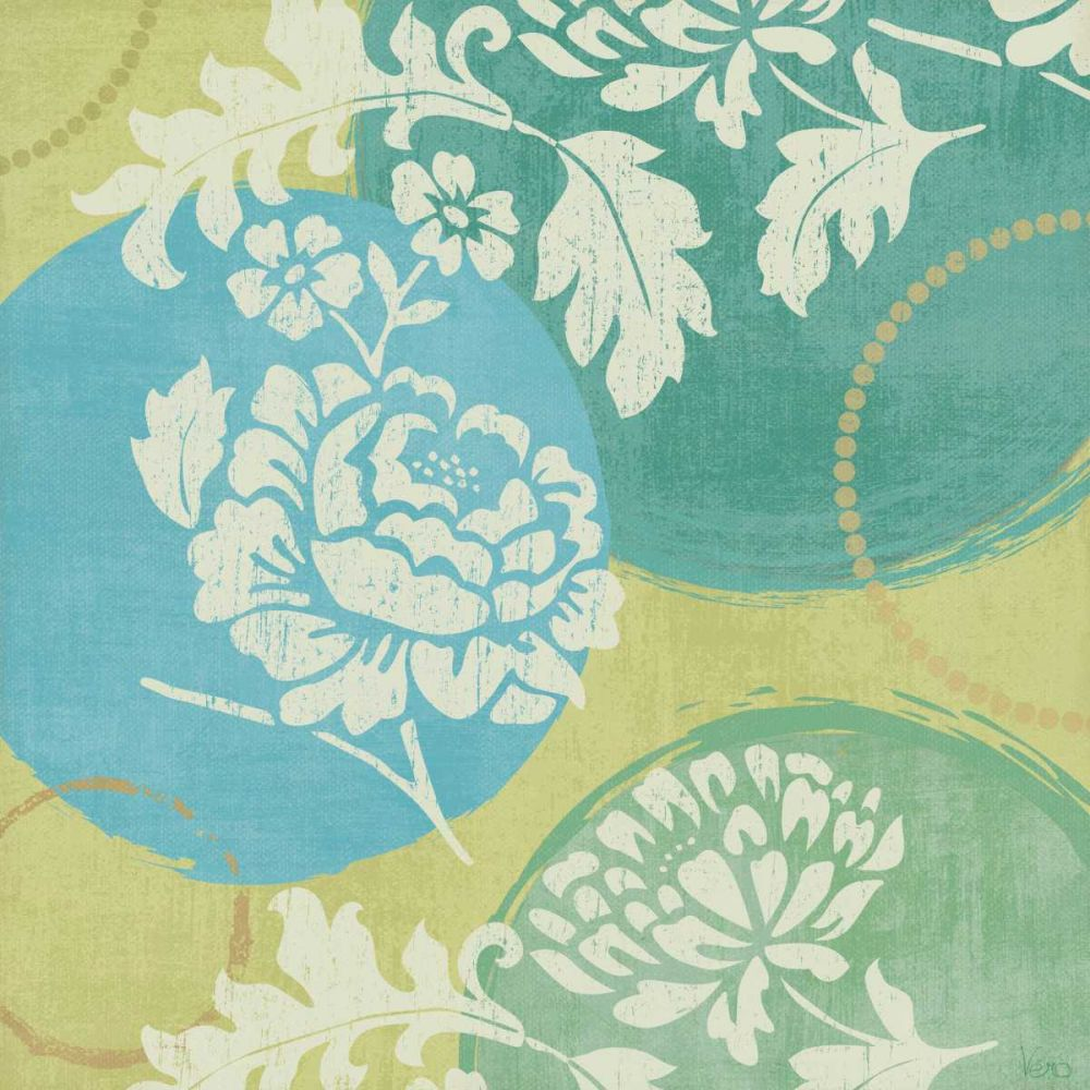 Floral Decal Turquoise I Charron, Veronique 18671
