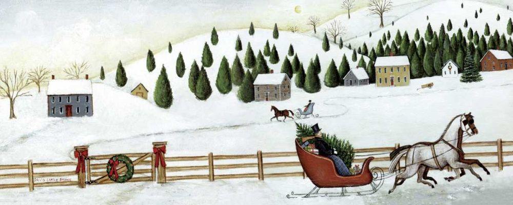 Christmas Valley Sleigh Brown, David Carter 34047