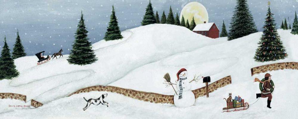 Christmas Valley Snowman Brown, David Carter 34049