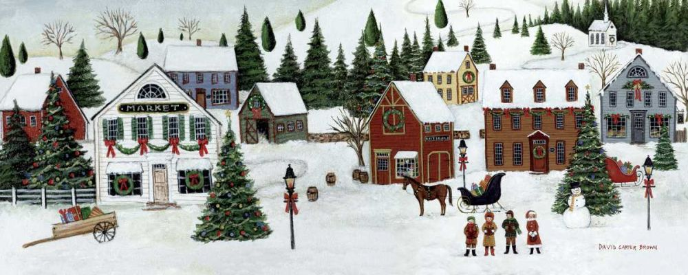 Christmas Valley Village Brown, David Carter 34050