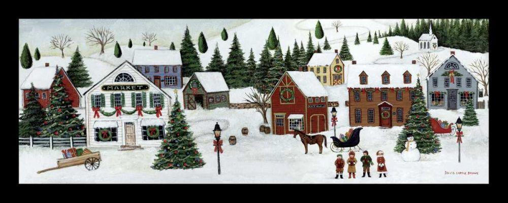 Christmas Valley Village Brown, David Carter 34107