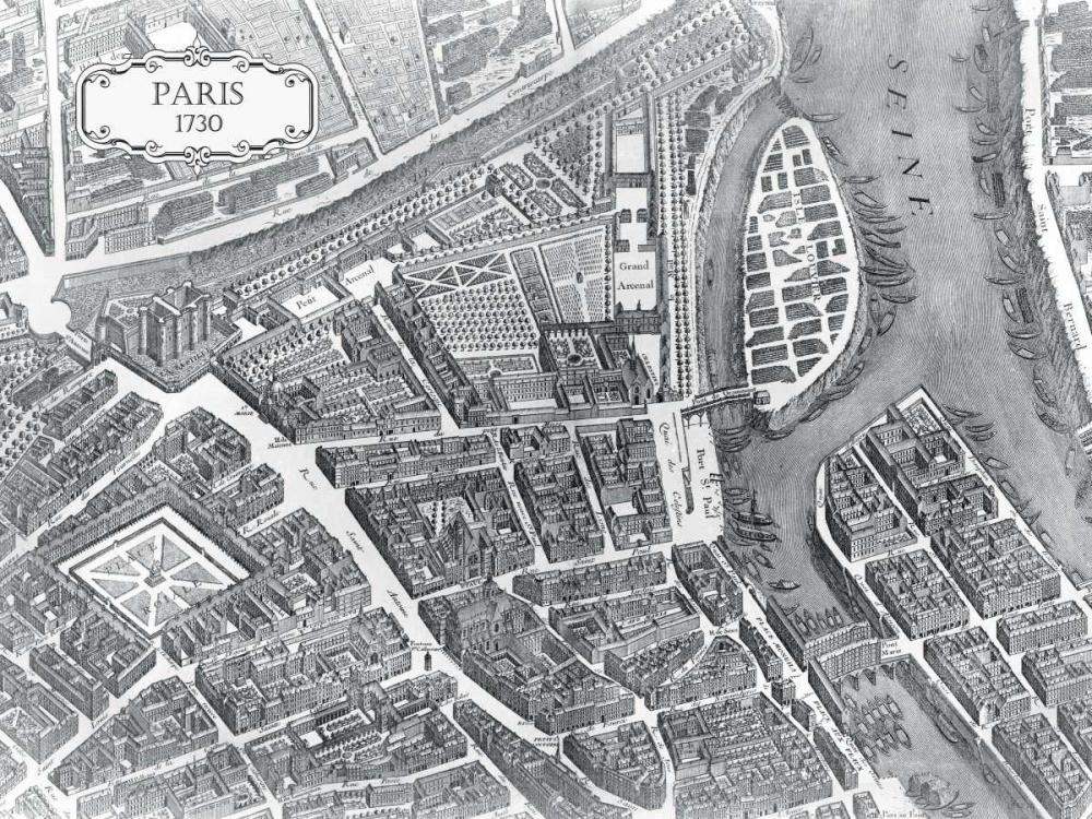 Plan of Paris 1730 - I Bretez, Louis 20653