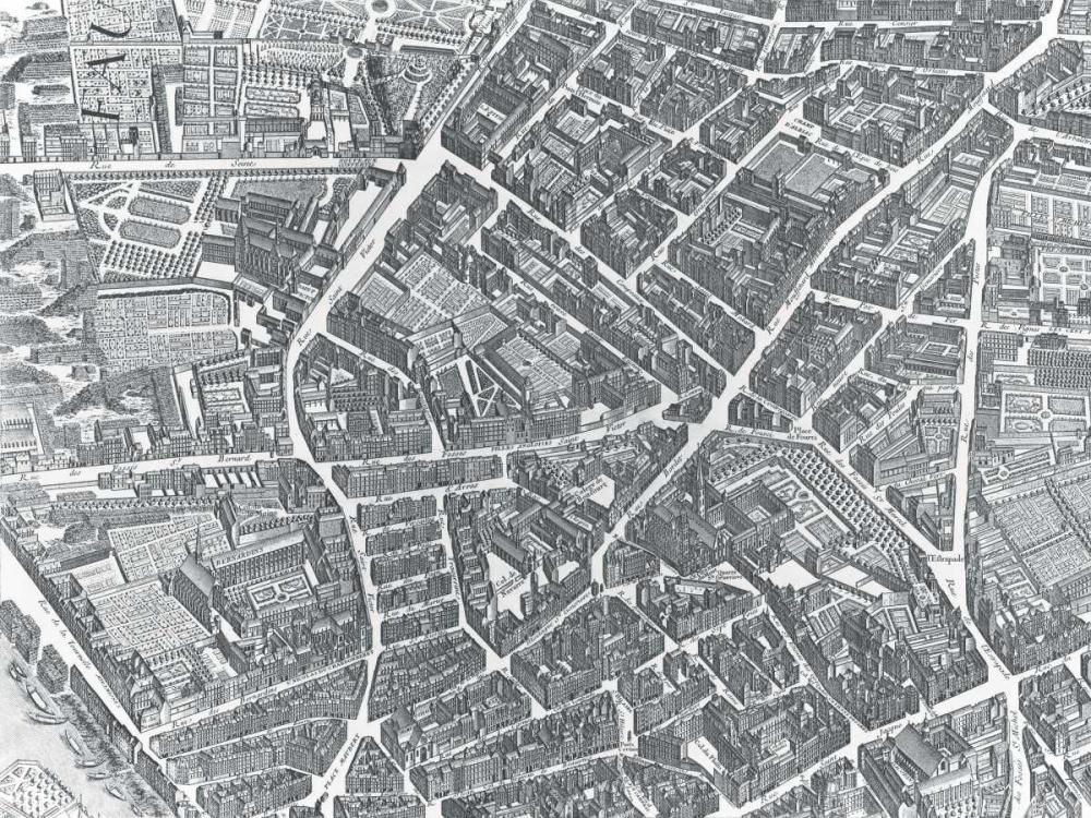 Plan of Paris 1730 - II Bretez, Louis 20654