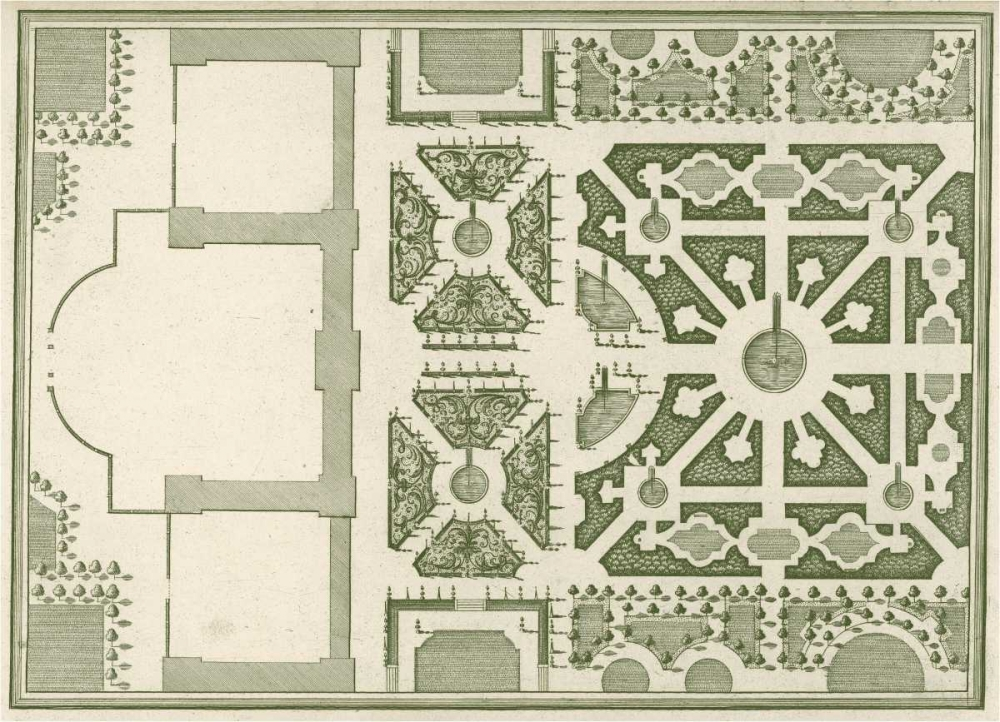 Courtly Garden Plan I Gravely, Sir Archibold  124780