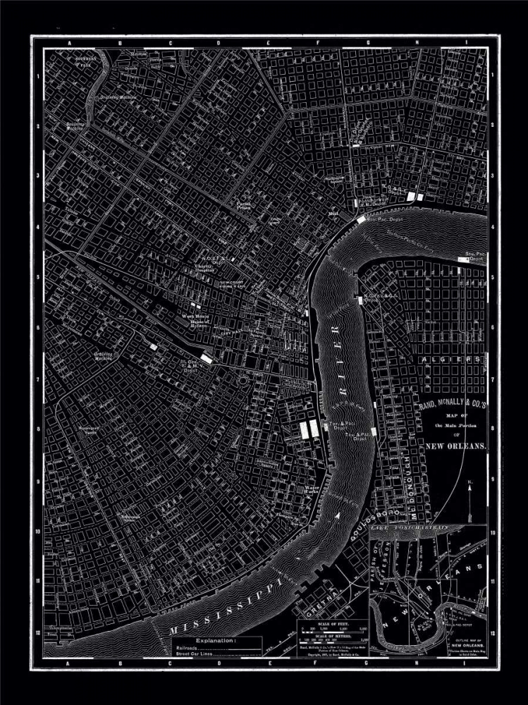 New Orleans 1895 Vintage Map, 1895 20425