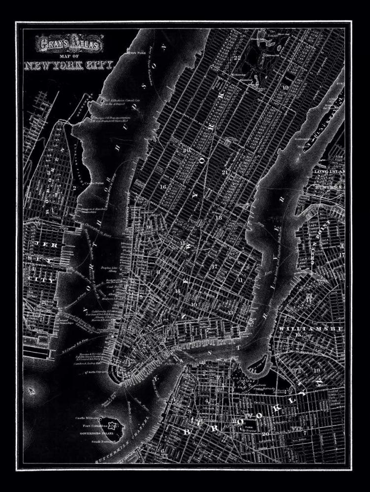New York 1895 Vintage Map, 1895 20428