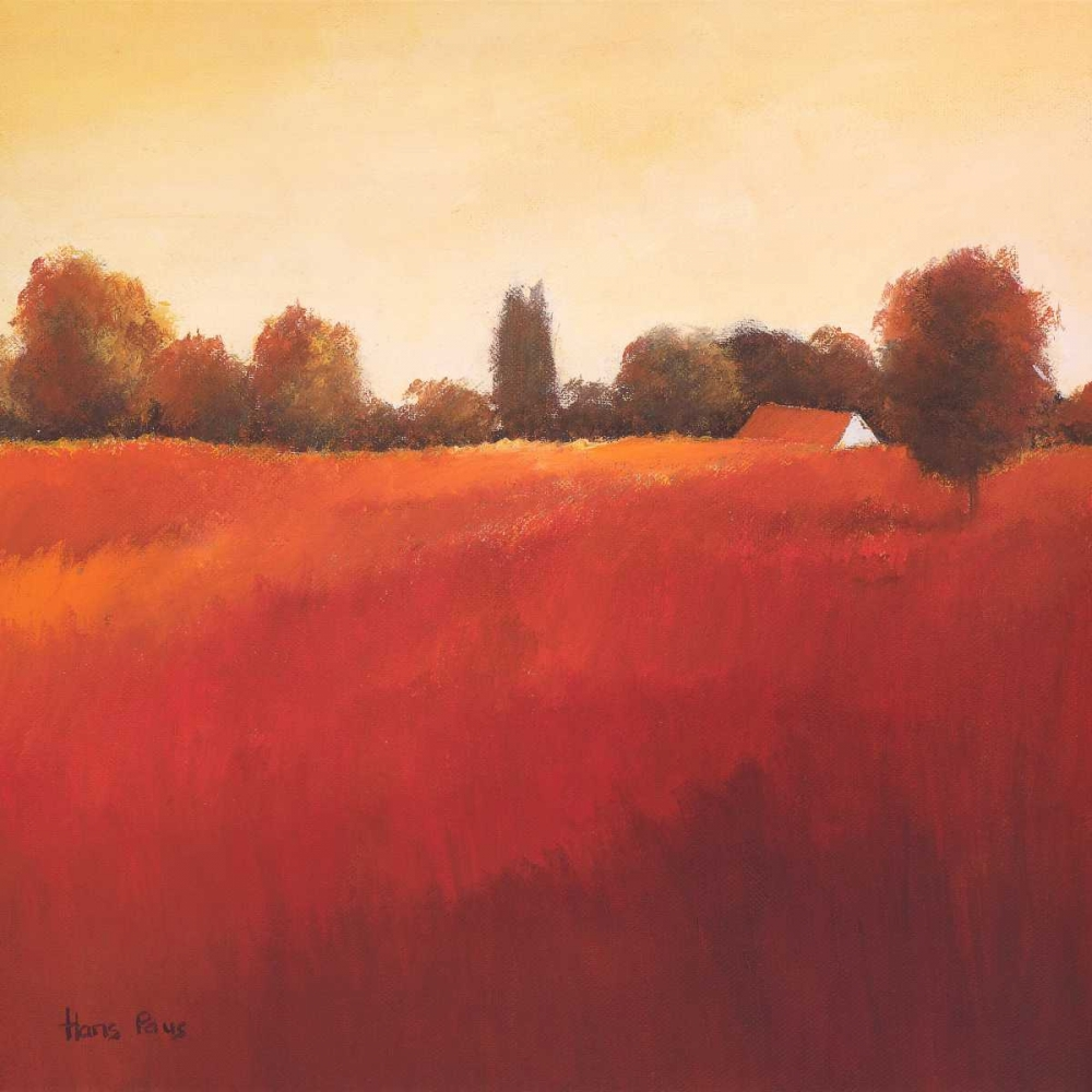 Scarlet Landscape III Paus, Hans 19241