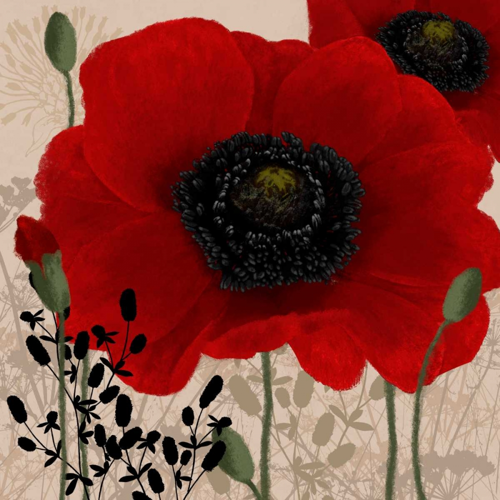 Red poppies I Linda, Wood 48159