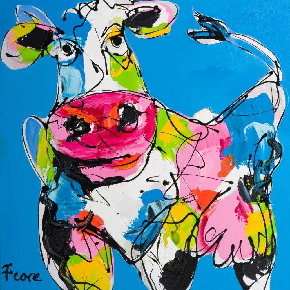 Colourful art cow Fiore, Art 166040